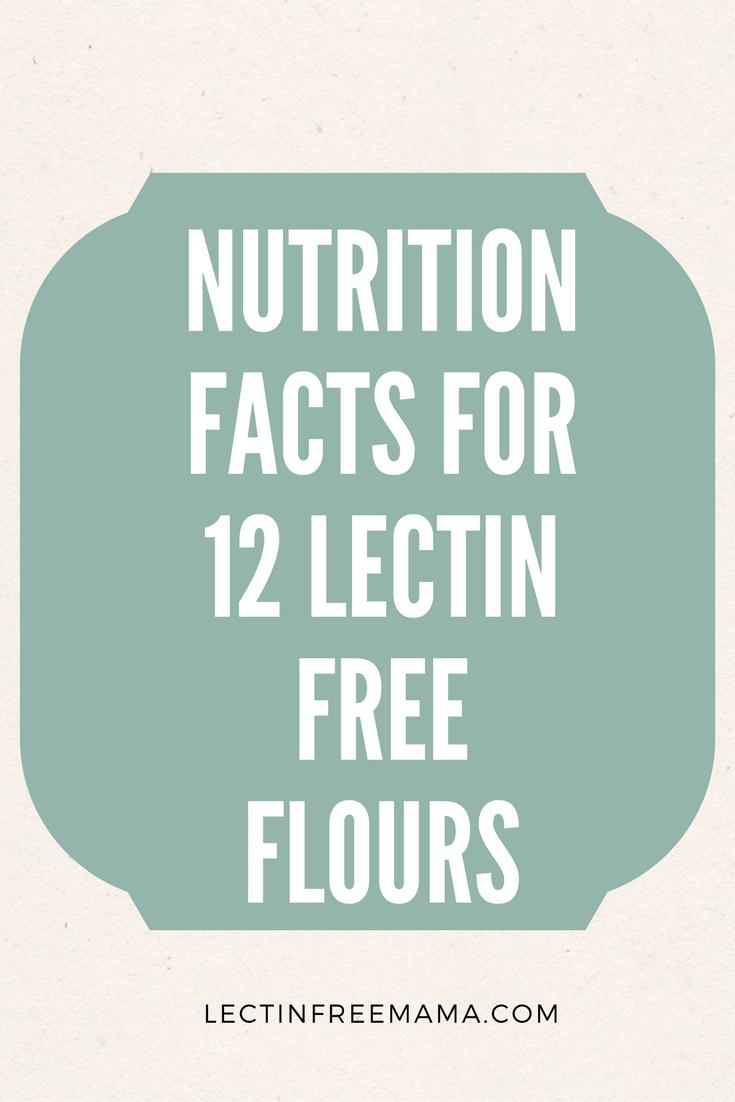 A nutritional comparison of 12 lectin free flours: protein, fat, carbohydrates: sugar, fiber, and resistant starch content.