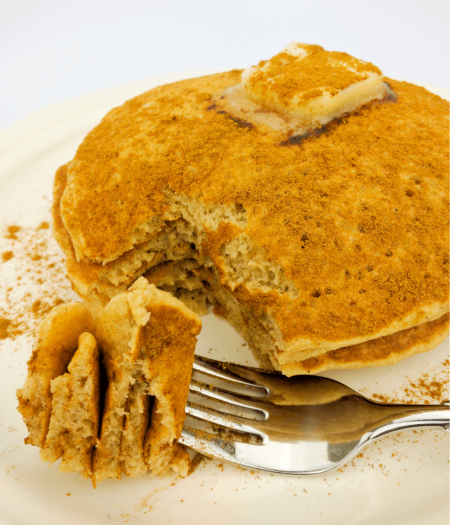 Delicious cinnamon pancakes made with cassava flour. Paleo, AIP, Plant Paradox friendly pancakes.