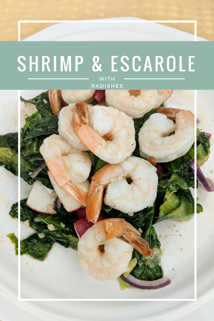 Go green and lectin free this winter with a tasty garlicky shrimp and escarole salad with radishes and a caper-herb dressing.