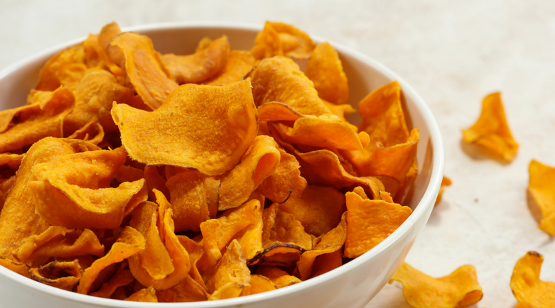 Twice baked chips for a lectin-free snack idea