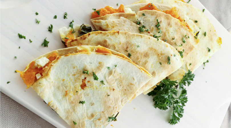 Quesadillas for a lectin-free snack idea.